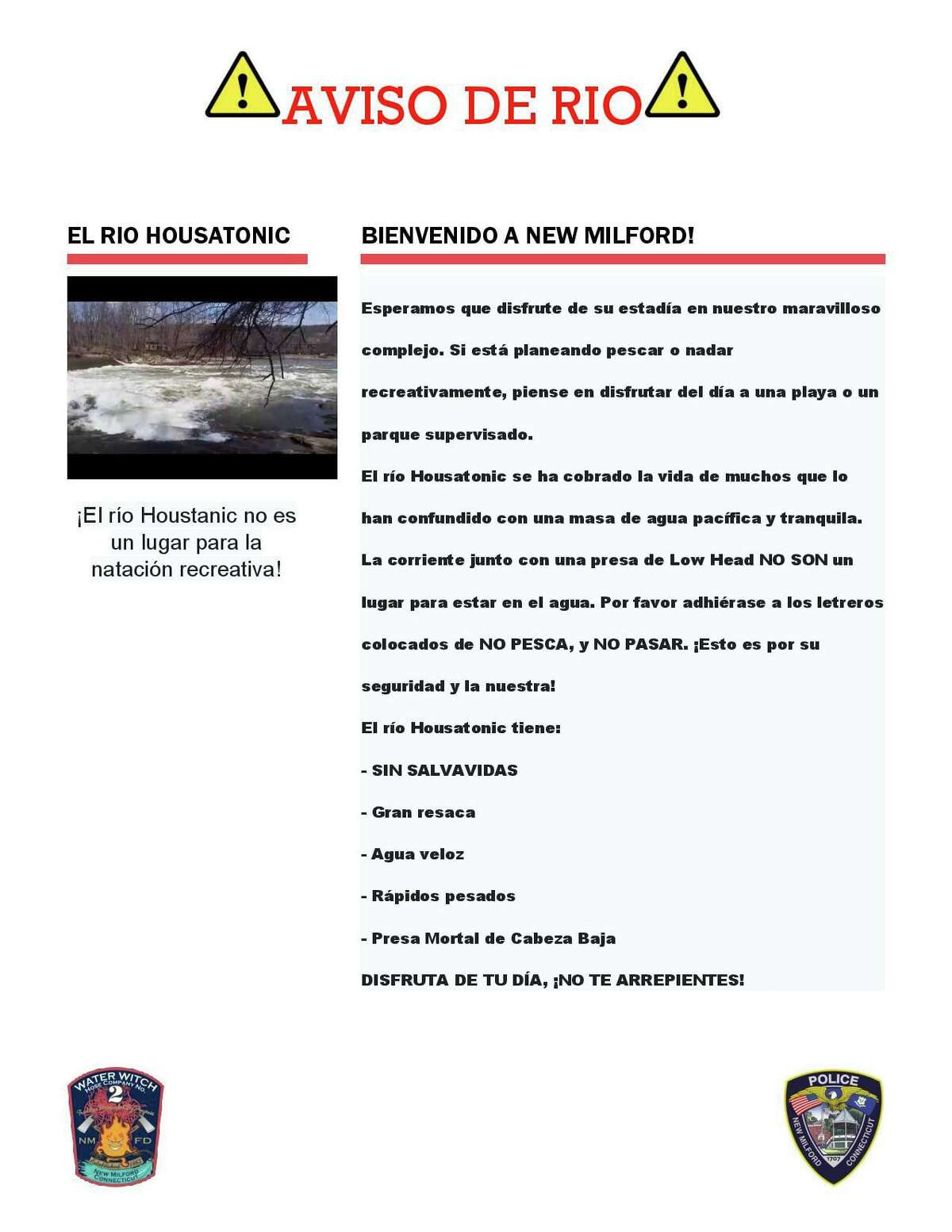 In the coming weeks, police said, residents can expect to see these posters and other public service announcements as officials work to increase awareness of how dangerous the river can be.