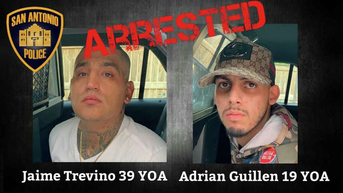 Jaime Trevino, 39, and Adrian Guillen, 19, were arrested Friday. They've been accused of robbing a woman while she was on a Zoom call in her North Side apartment.