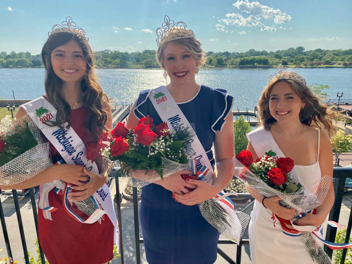 Ally Kemp, middle, of Unionville has been named the 2021 Michigan Sugar Queen in a ceremony at Michigan Sugar Company's Bay City headquarters. Kenna Karst of Frankenmuth, right, and Raven Wieland of Pinconning, left, were crowned Queen's Court Attendants.