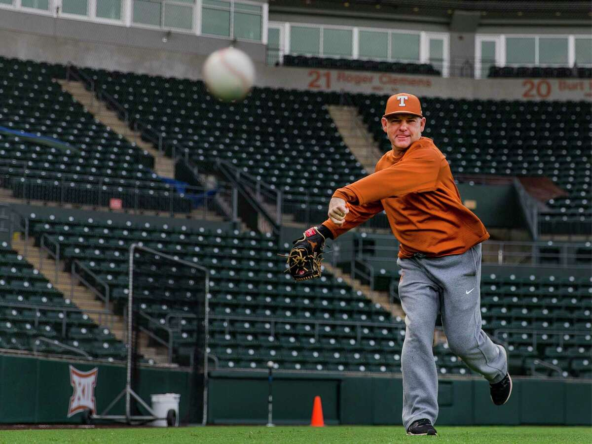 Even at Texas, David Pierce can still occasionally throw a pitch.
