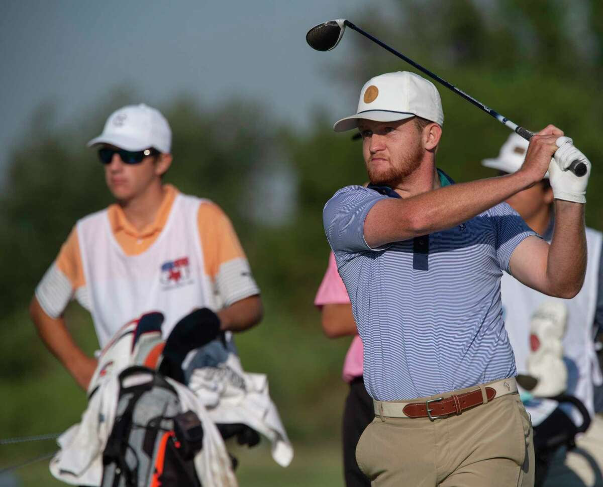 Austyn Reily follows his shot 06/19/2021 during the third round of the 112th Texas Amateur Championship at Midland Country Club. Tim Fischer/Reporter-Telegram