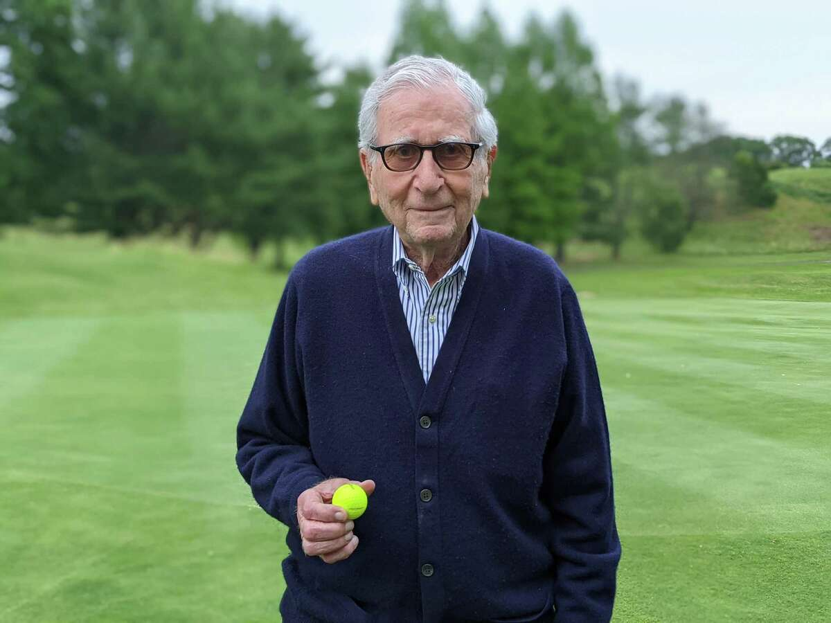 Dr. Joe Hoffman recently aced the second hole at New Haven Country Club at the age of 96.