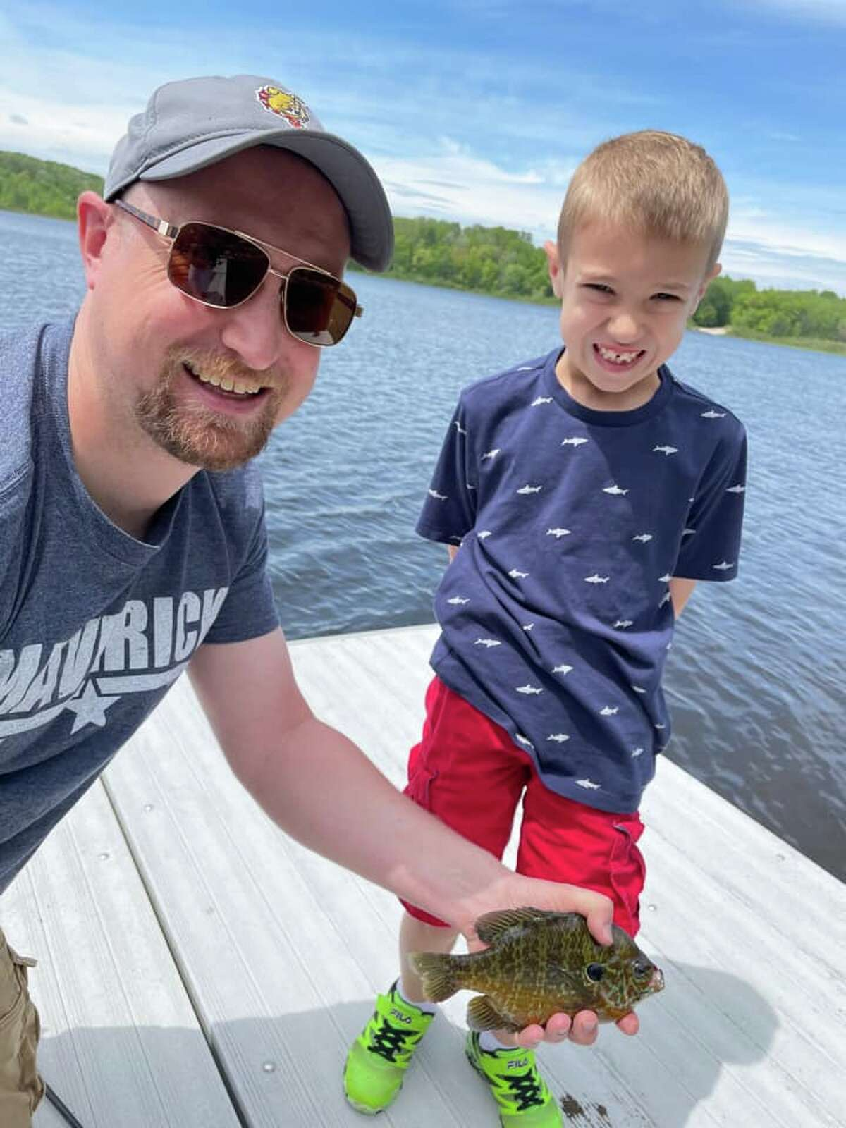 My husband John and our son Liam fishing. Photo submitted by Angela Denny