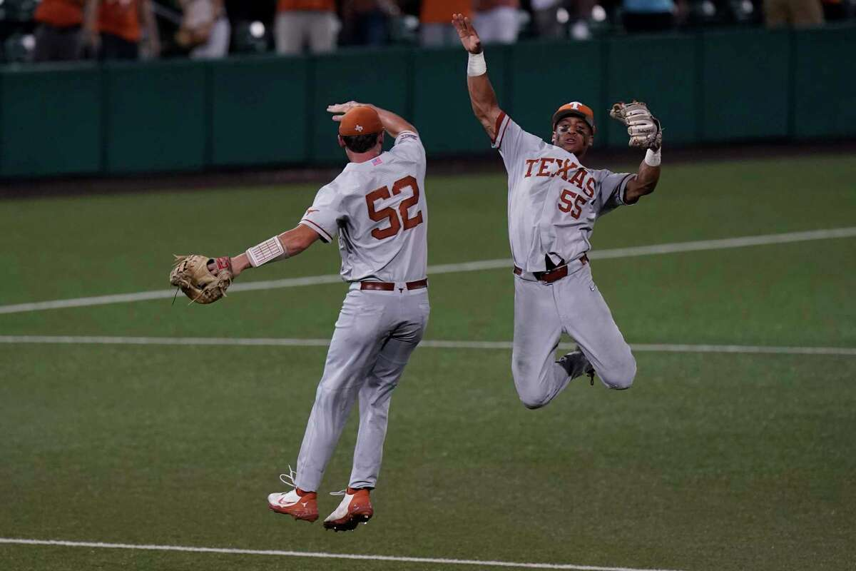 Zach Zubia (52) and Camryn Williams had plenty to celebrate against South Florida in the Super Regional but know it will be tougher in Omaha.