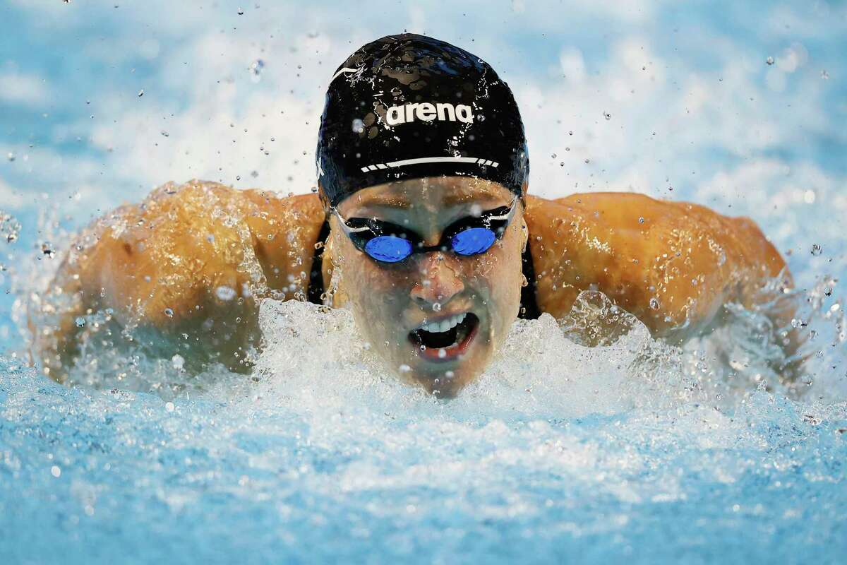 Former UT swimmer Madisyn Cox finished third in the women's 200-meter individual medley in the U.S. Olympic Swimming Trials. The top two finishers qualified for the 2021 Tokyo Olympics.