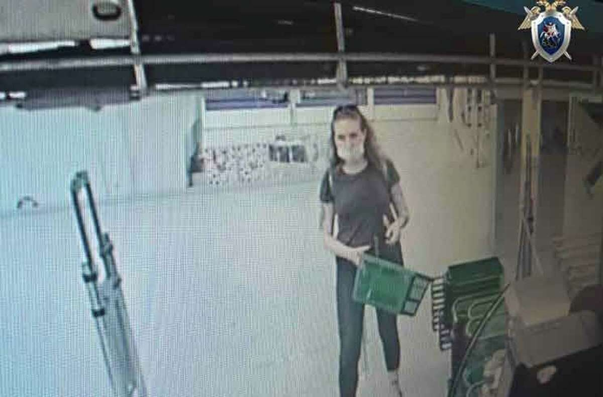 Store surveillance footage shows Catherine Serou, a student from California, shortly before her disappearance in Russia on June 15, 2021. She was found dead a few days later.