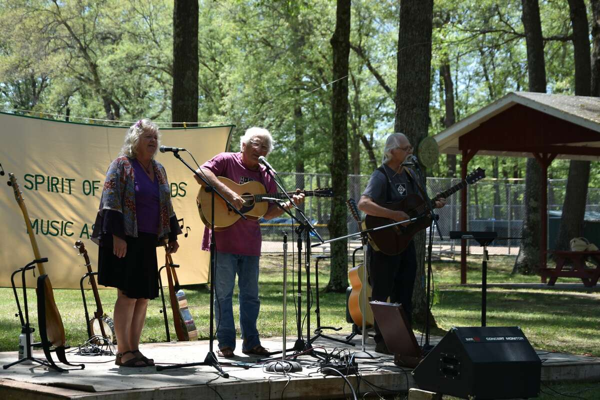 Visitors to the 43rd annual event had a chance to hear The Nephews.