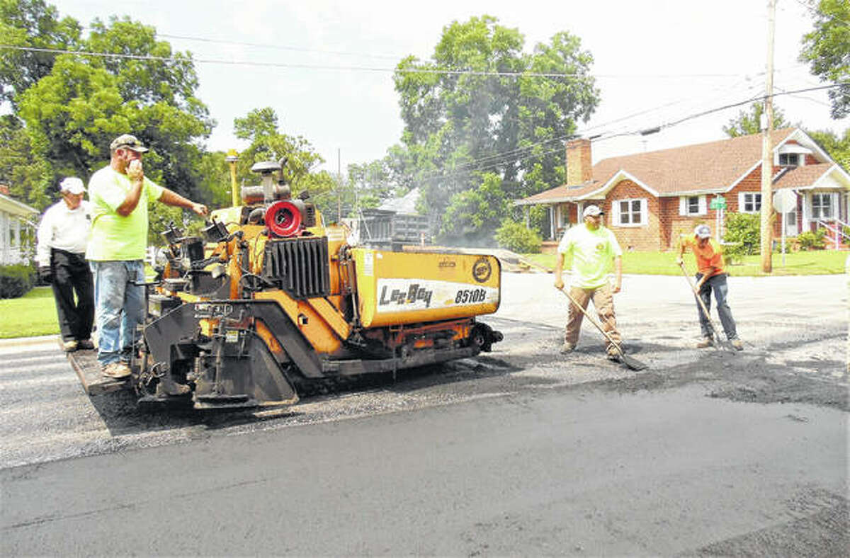 This could be a common sight in the Lin-Hy Subdivision this fall if trustees approve a plan to resurface certain streets and add new curbs and gutters.