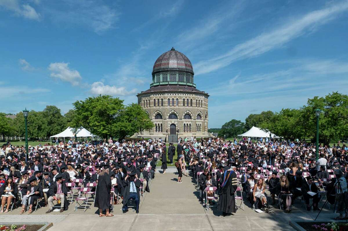Union College held a commencement ceremony for the Class of 2020 on Sunday, June 20, 2021. In person ceremonies were cancelled last year were canceled because COVID-19. About 330 graduates out of 477 graduates came back to the Schenectady, NY, campus to participate. (Jim Franco/Special to the Times Union)