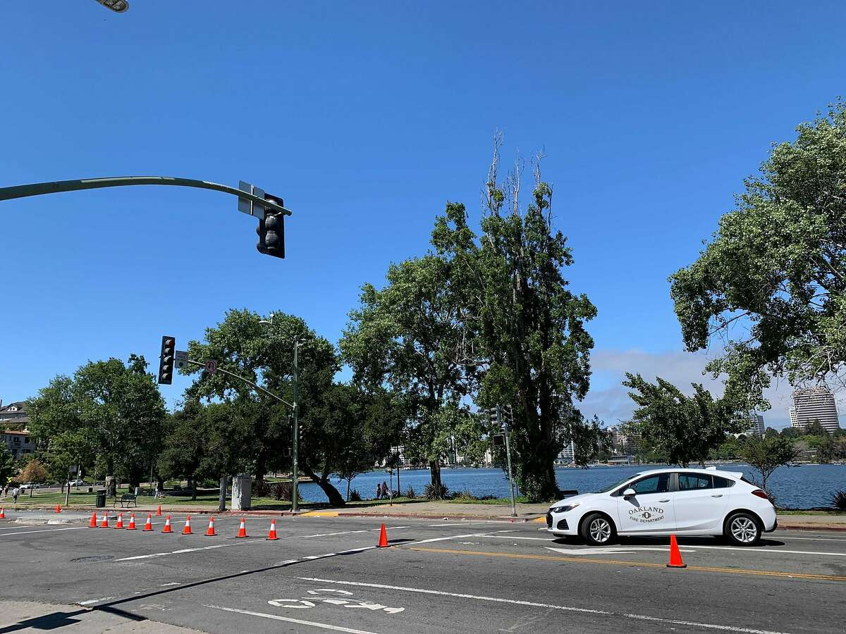 The site of the fatal shooting Saturday at Lakeshore and Brooklyn avenues in Oakland was quiet Sunday morning.