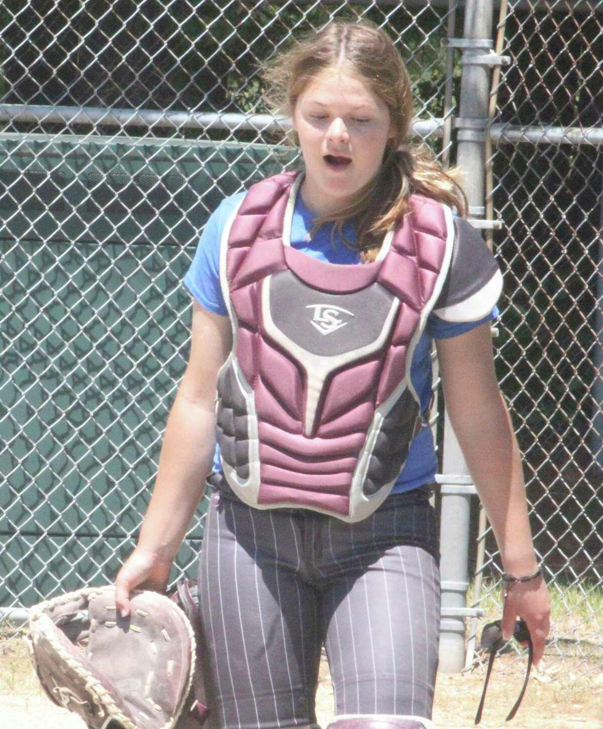 Catcher Ally Theunick had a strong season for Evart's softball team. (Pioneer file photo)
