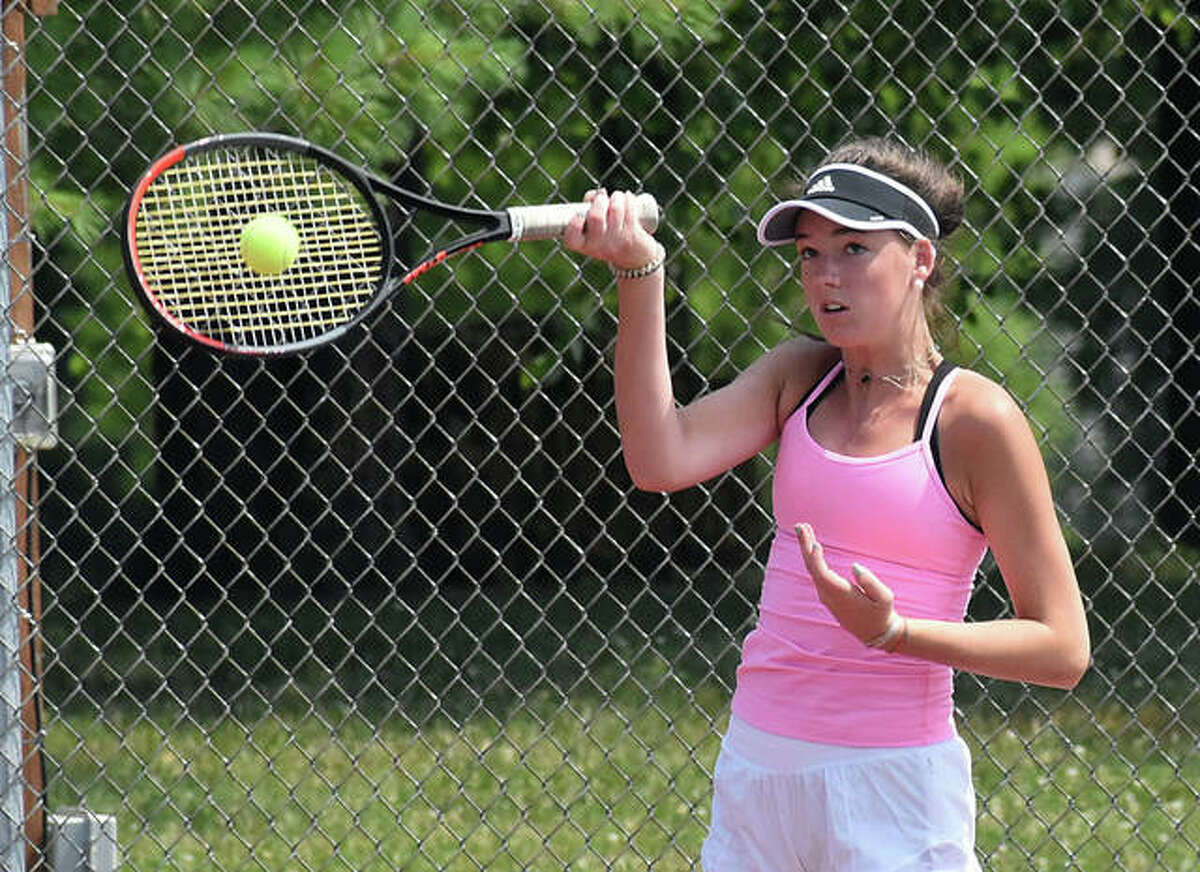 Keeley O'Meara, of St. Louis, teamed with Katie Woods to win the 14 and under girls doubles title at the Tiger Classic.