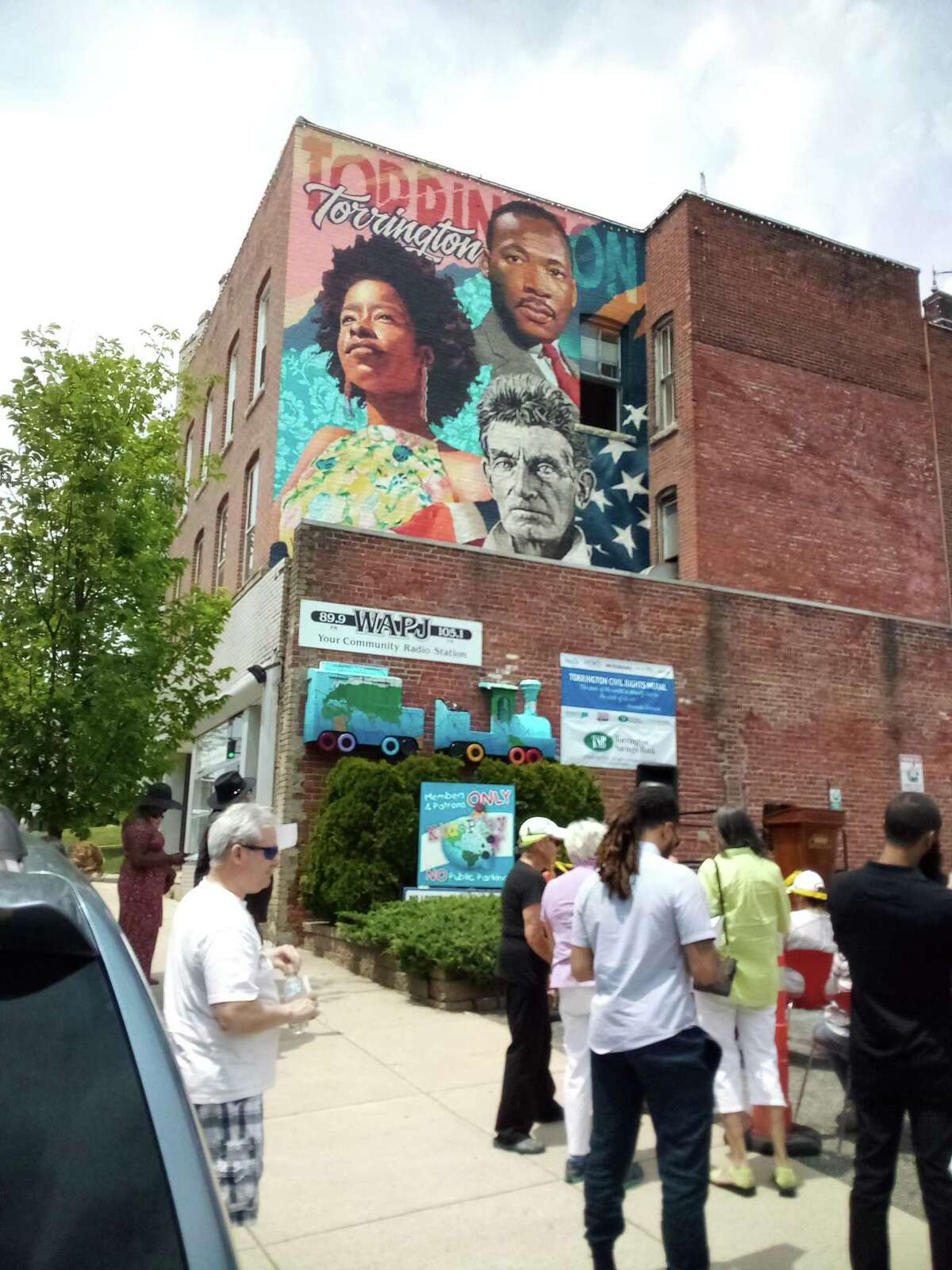Juneteenth was celebrated on Water Street in Torrington Saturday. The gathering included speeches, music, African drumming, a ballet performance and the official unveiling of the MLK mural on the wall of the WAPJ building.