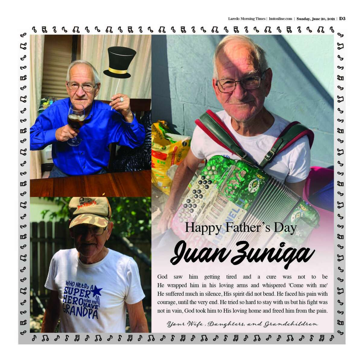 LMT readers celebrated their dads in our Fathers' Day special section.