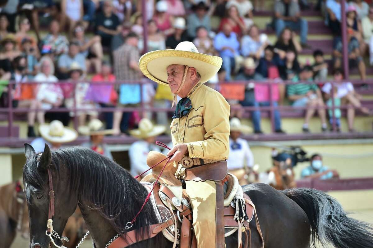 Roberto Lopez is 78 years old and th oldest participant in the Day in Old Mexico and Charreada event Sunday afternoon