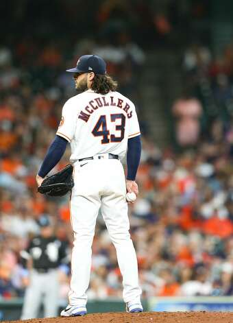 Houston Astros starting pitcher Lance McCullers Jr. (43) takes the mound against Chicago White Sox in the fourth inning at Minute Maid Park in Houston on Sunday, June 20, 2021. Houston Astros won the game 8-2. Photo: Elizabeth Conley/Staff Photographer / © 2021 Houston Chronicle