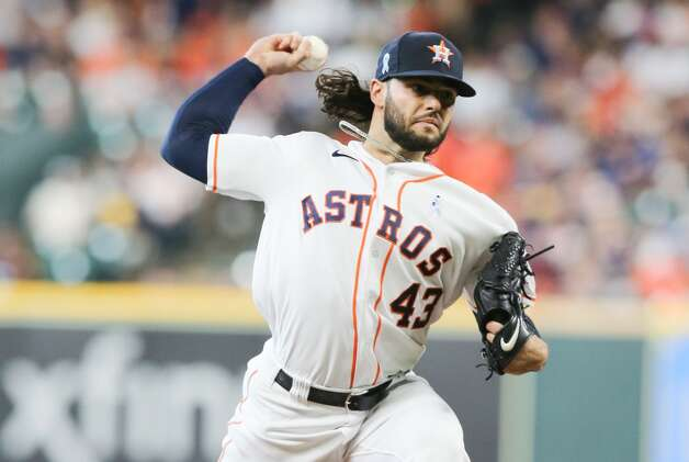 Houston Astros starting pitcher Lance McCullers Jr. (43) pitches in the first inning against the Chicago White Sox at Minute Maid Park in Houston on Sunday, June 20, 2021. Houston Astros won the game 8-2. Photo: Elizabeth Conley/Staff Photographer / © 2021 Houston Chronicle