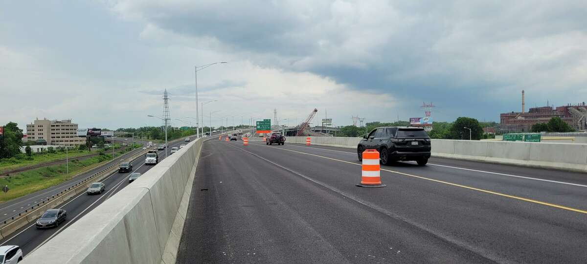 The new Exit 29 from Interstate 91 to the Charter Oak Bridge in Hartford.