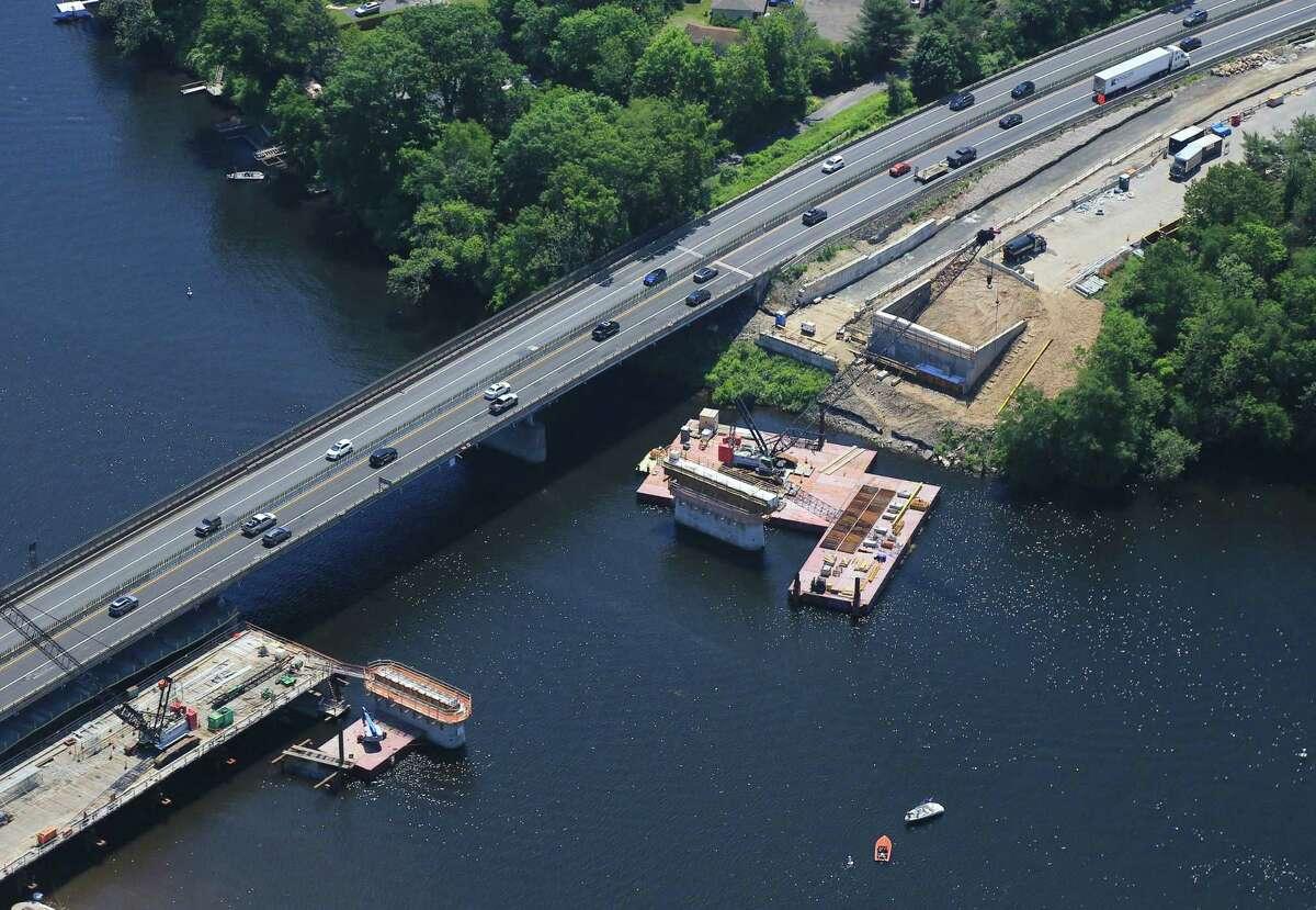 The Rochambeau Bridge over Lake Zoar on the Housatonic River between Newtown and Southbury.
