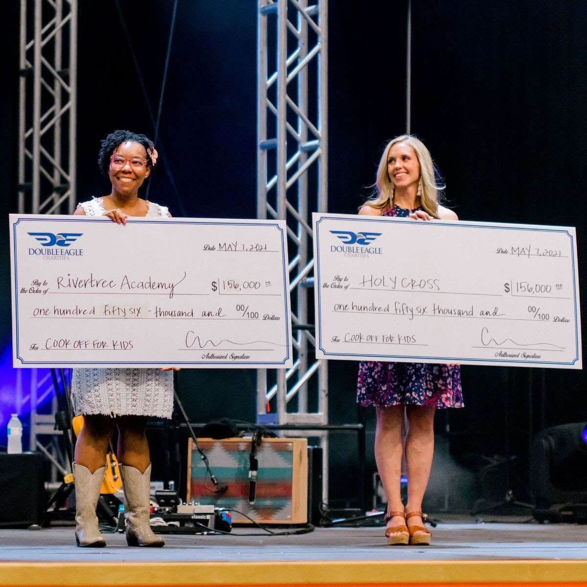 Check presentation from cook-off for Holy Cross