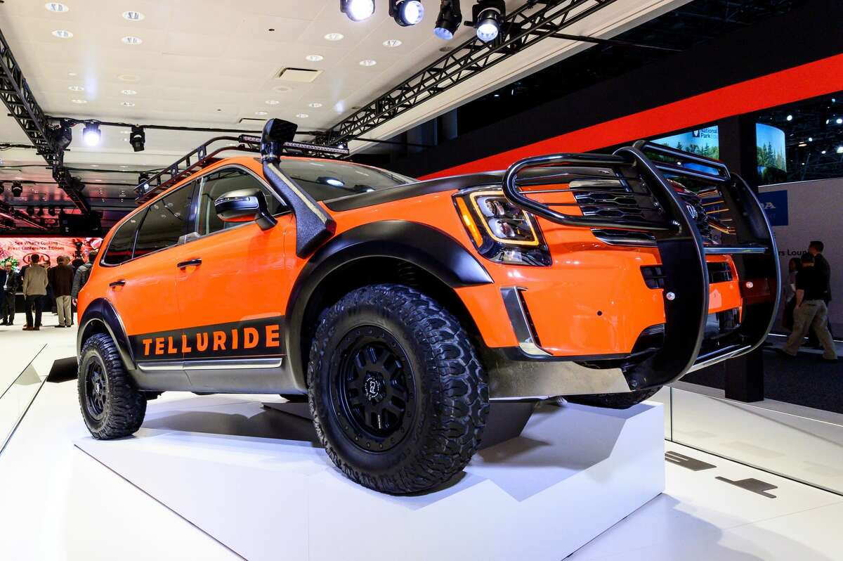 NEW YORK, NY, UNITED STATES - 2019/04/17: Kia Telluride seen at the New York International Auto Show at the Jacob K. Javits Convention Center in New York. (Photo by Michael Brochstein/SOPA Images/LightRocket via Getty Images)