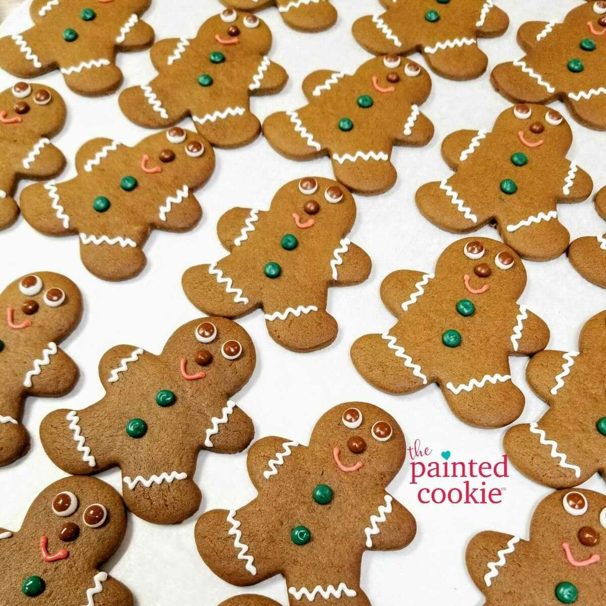 """Susan Schmitt, owner of The Painted Cookie in Wilton, Conn., said she was asked to make gingerbread men for the Netflix movie, """"The Noel Diary,"""" which has been filming in Connecticut with Justin Hartleyand Treat Williams."""