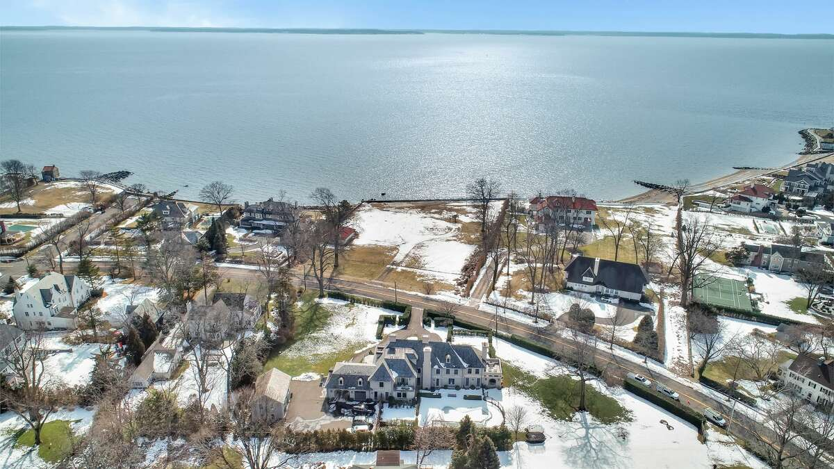 The seven-bedroom home at 366 Ocean Drive West in Stamford is on the market for $4,000,000.