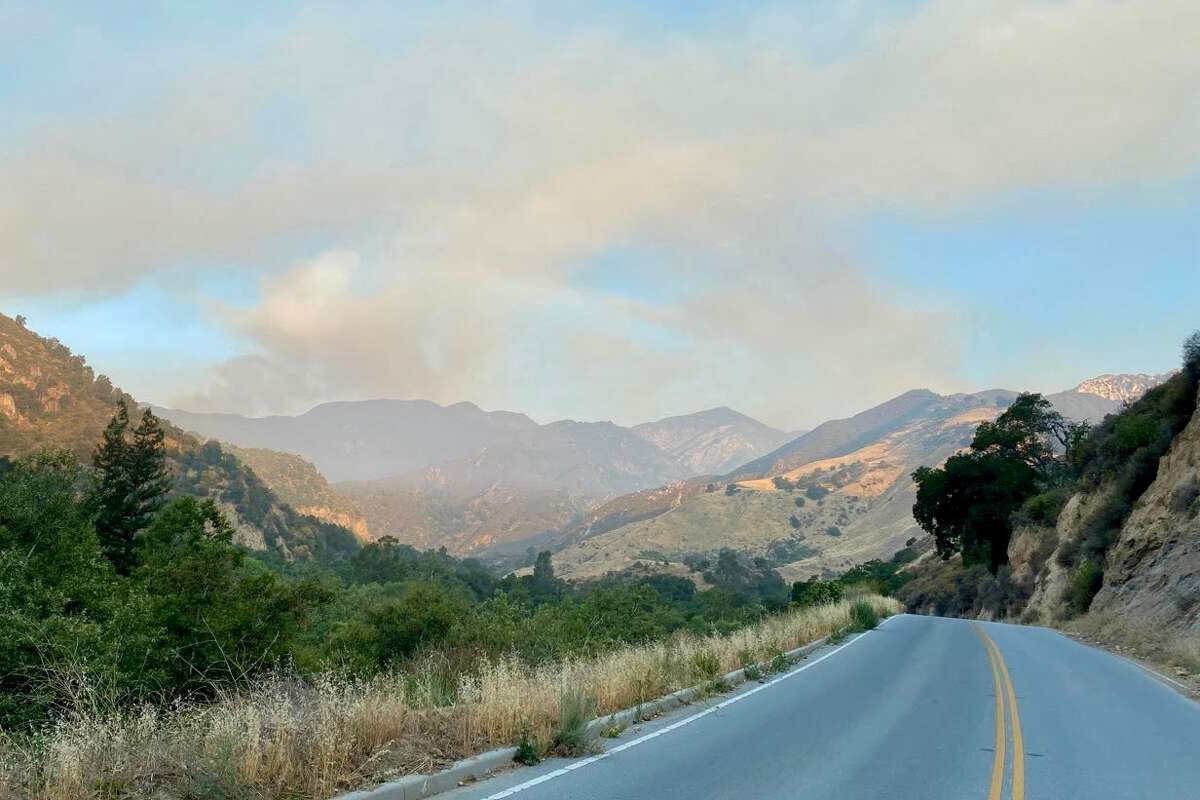 A wildfire burning in the Los Padres National Forest in Monterey County near Big Sur stood at 2,392 acres on June 20, 2021.
