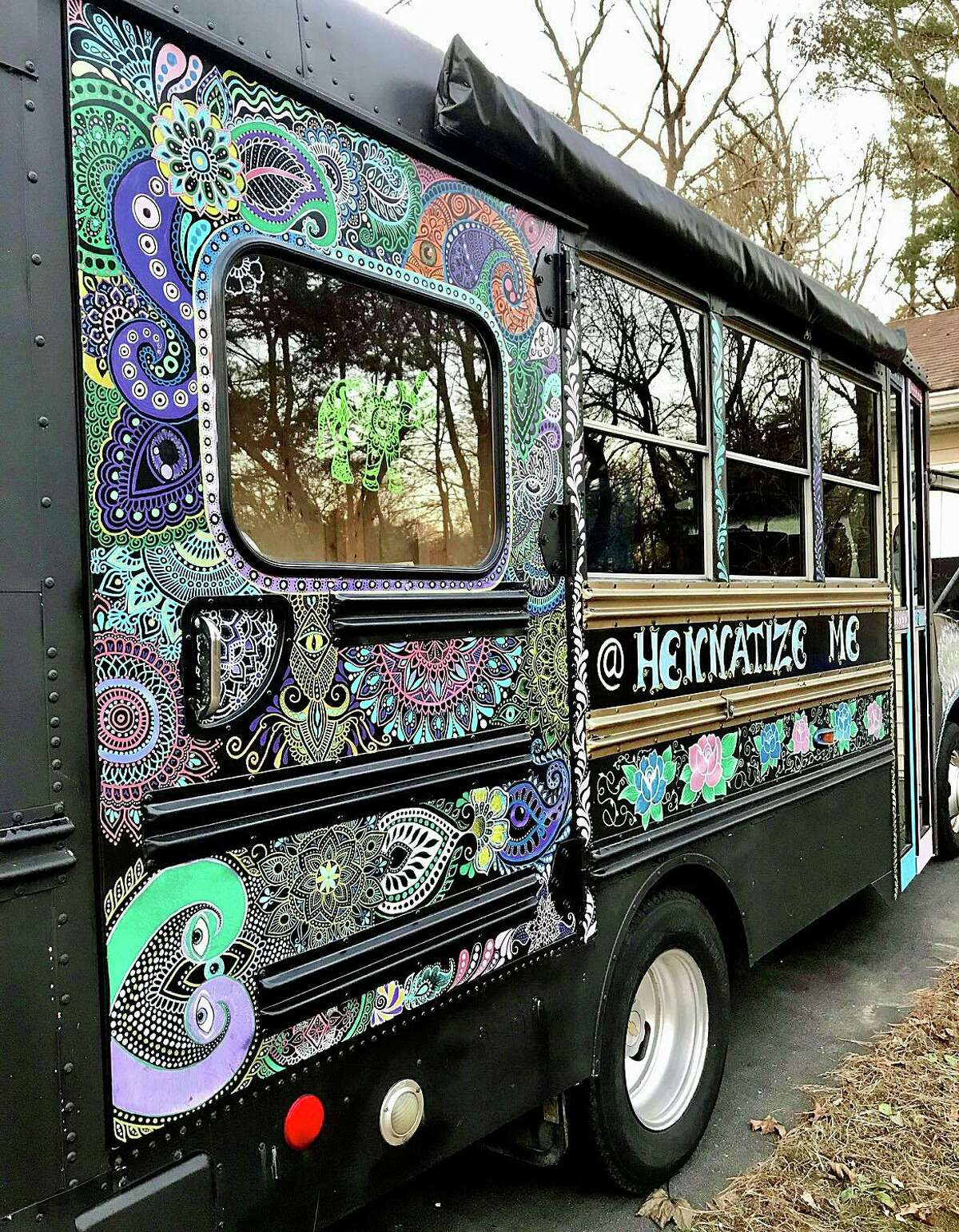 The Hennative henna bus will be at the Age of Aquarius Festival at Avant Garde in Branford.