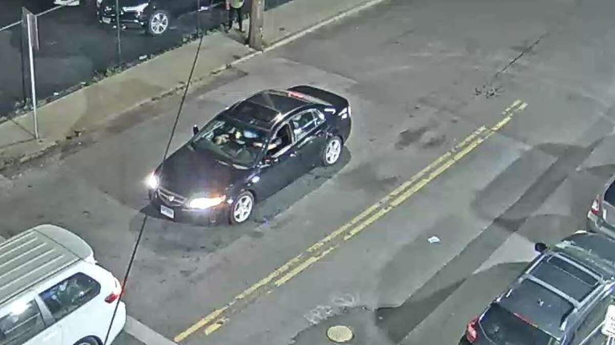 Stamford police are searching for the driver of a car suspected of striking a pedestrian in the area of Wilson Street and Grenhart Road on June 6, 2021, and leaving them with life-threatening injuries.
