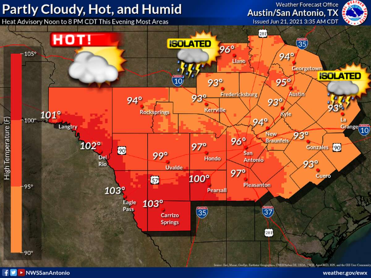 It's going to be hot and humid in San Antonio.