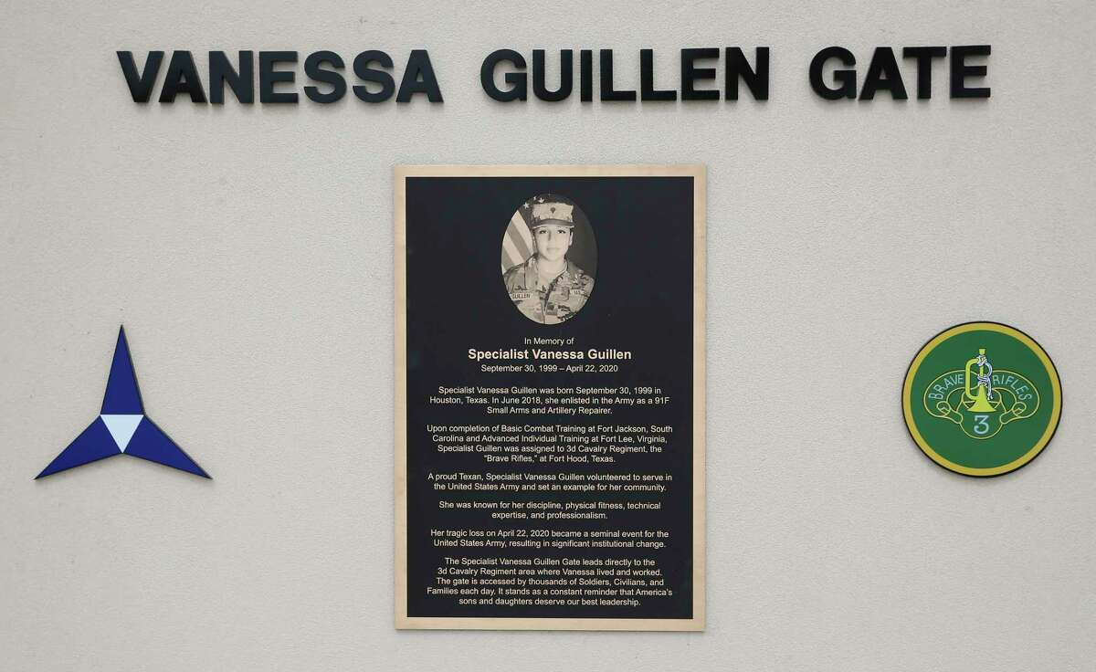 The family of Spc. Vanessa Guillen was in attendance when the Army dedicated a gate in her honor at Fort Hood in April.
