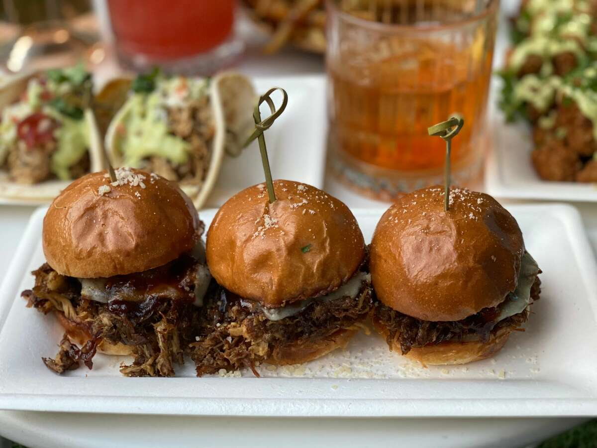 Briased-oxtail sliders at The Night Owl in Saratoga Springs. (Konrad Odhiambo/for the Times Union.)