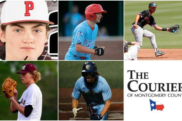 Zane Adams (Porter), Conner Bennett (Oak Ridge), Larry Drake (Grand Oaks), James Ellwanger (Magnolia West) and Samson Pugh (Lake Creek) are nominees for The Courier's Newcomer of the Year.
