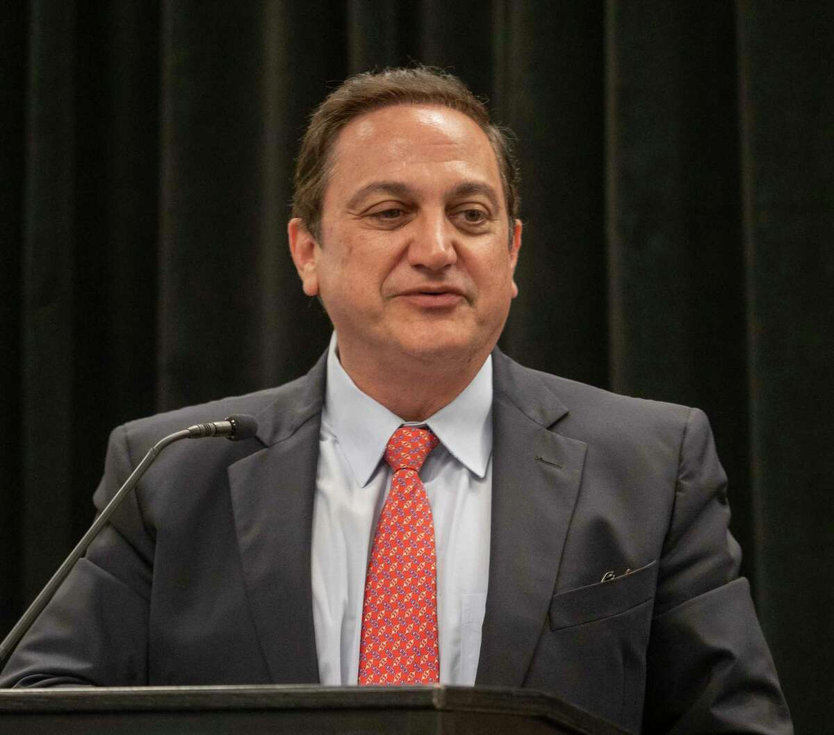 Steven Munisteri talks about the history of the Republican Party in Texas as well as where he sees the future of the party 06/21/2021 at the Midland Republican National Hispanic Assembly luncheon. Tim Fischer/Reporter-Telegram