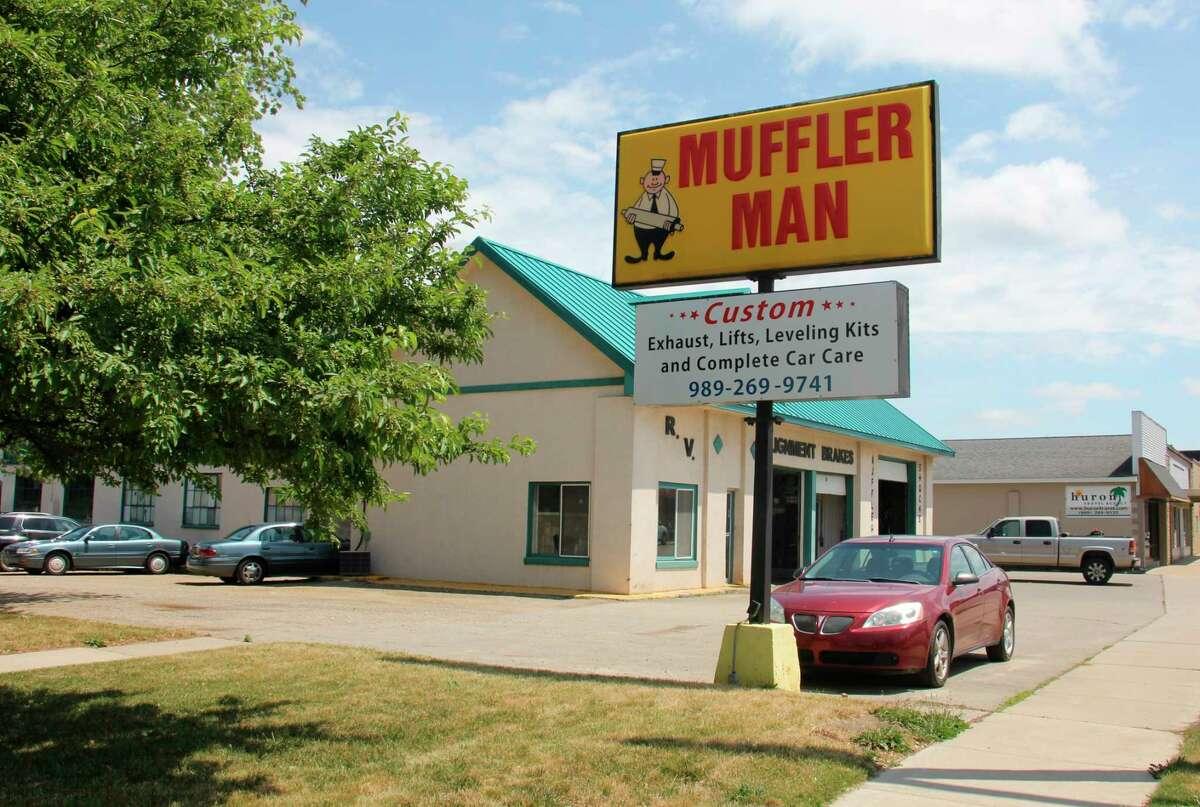 The Muffler Man is an auto repair shop on W Huron Ave, June 18. (Teresa Homsi/Huron Daily Tribune)