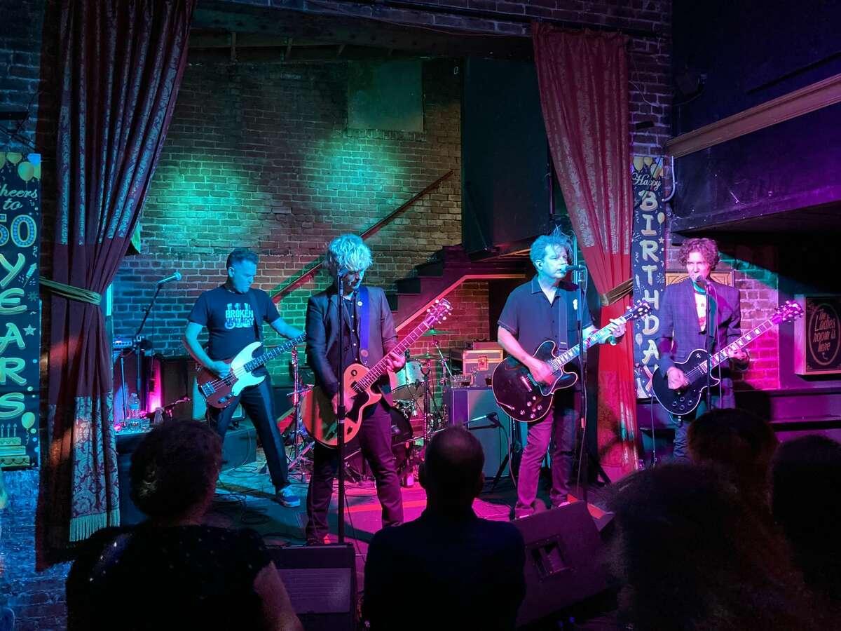Bill Schneider, Green Day's Billie Joe Armstrong, Jason White and Greg Schneider play as the Coverups at the Golden Bull on Thursday, June 17, 2021.