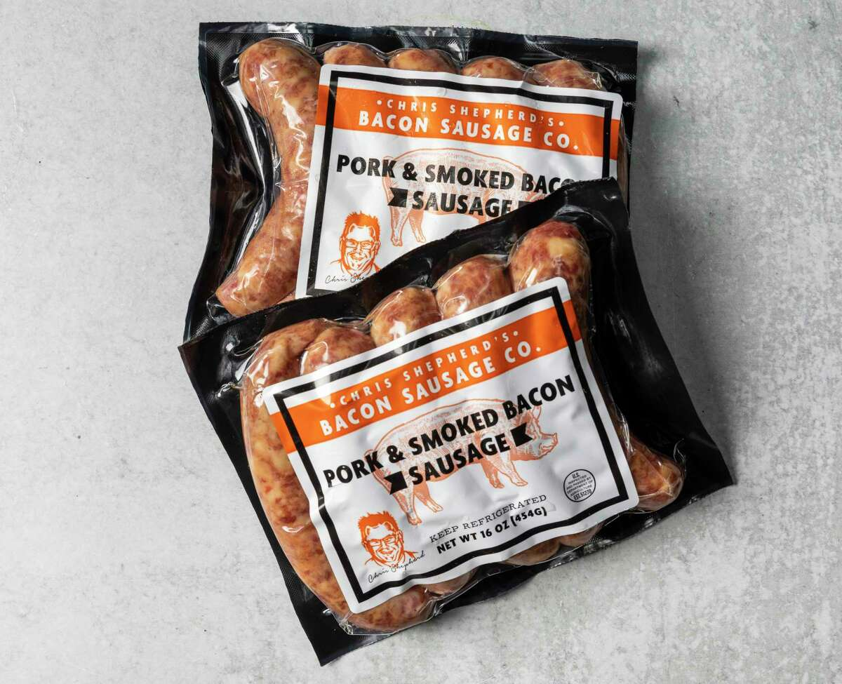 Chef Chris Shepherd sells his pork and smoked bacon sausage at 62 H-E-B supermarkets.