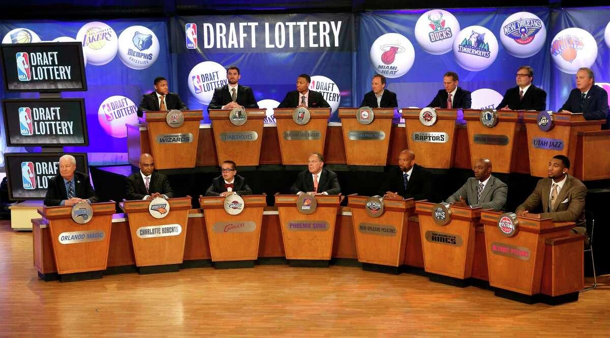 Hakeem Olajuwon will represent the Rockets at Tuesday night's NBA Draft Lottery.
