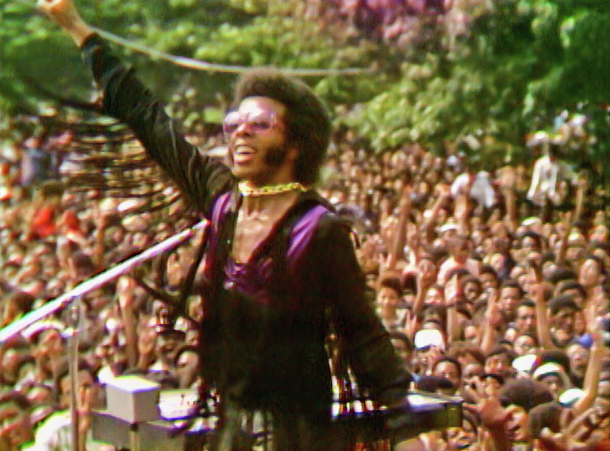 """An estimated 300,000 people attended the Harlem Cultural Festival in 1969, often called the """"Black Woodstock"""" for its all-star lineup of Black musicians including Sly and the Family Stone (pictured). For the first time, footage of the festival can be seen in the upcoming documentary film """"Summer of Soul."""" It will screen at the Greenville Drive-In June 24 before it begins streaming on Hulu July 2."""