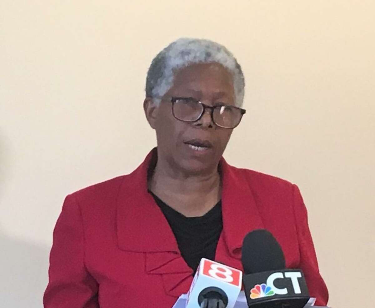 New Haven Superintendent of Schools Ilene Tracey speaks to the press on June 21, 2021.