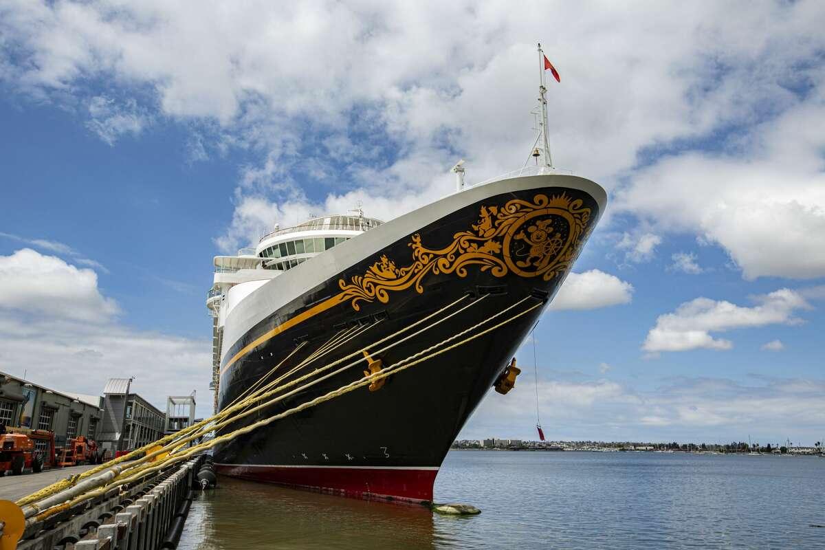 The Disney Wonder cruise ship seen here in 2020.