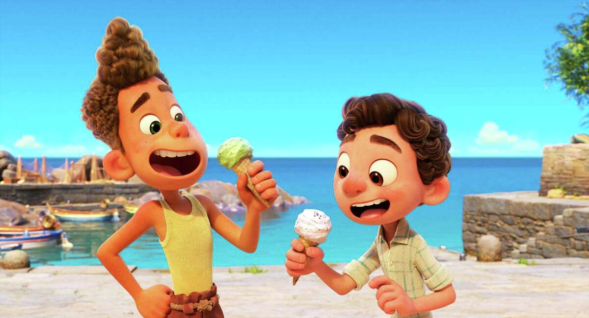 """Jacob Tremblay voices the title character (right) in """"Luca,"""" while Jack Dylan Grazer voices Alberto (left). (Disney/Pixar/TNS)"""