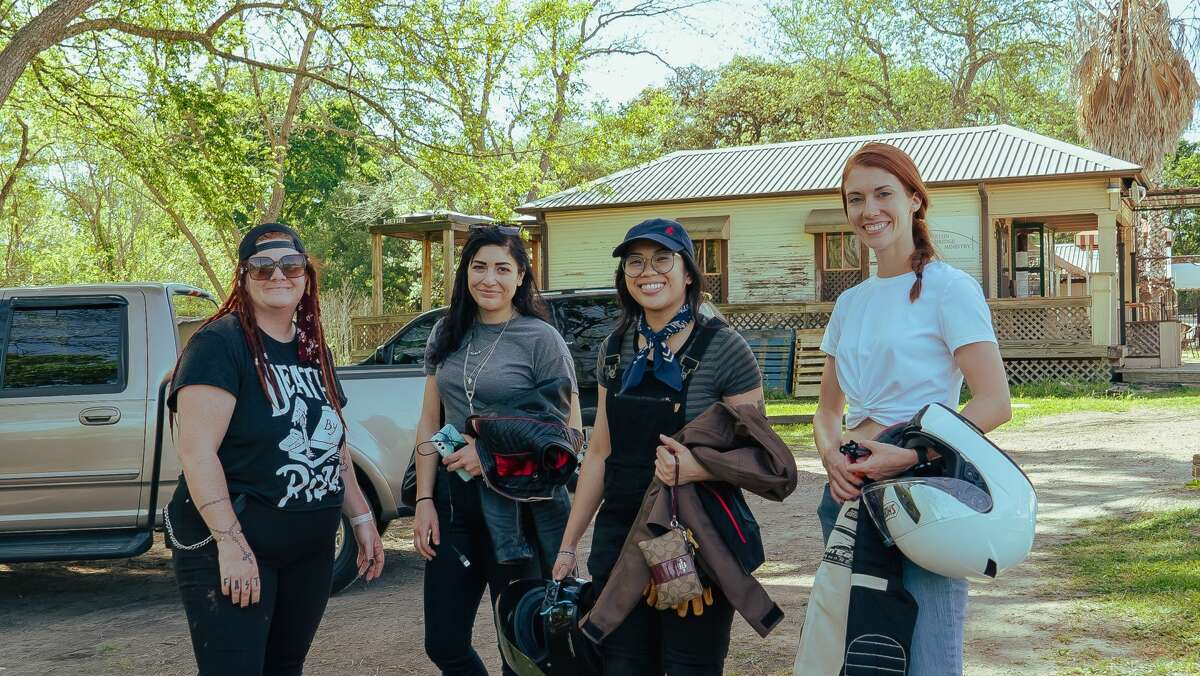 From left to right, co-founder Nyoka Yeohum, Kristyn Petras, Chelsea Veloso and Katie Lane of The Litas Houston.