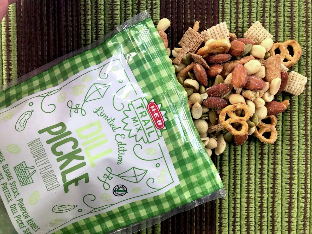 H-E-B's Dill Pickle Trail Mix deserves a spot at your next cocktail party.