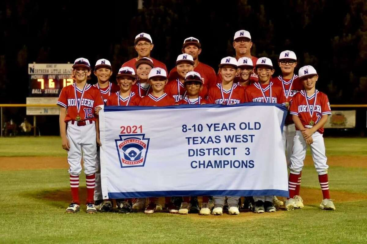 The Midland Northern 8-10 year old team poses after winning the District 3 Little League championship Saturday night at Butler Park.