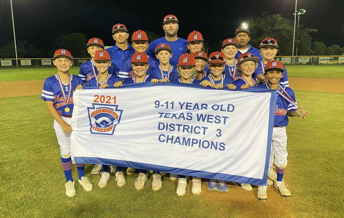 The Midland Northern 9-11 year old team poses after winning the District 3 Little League title Saturday night at Butler Park.