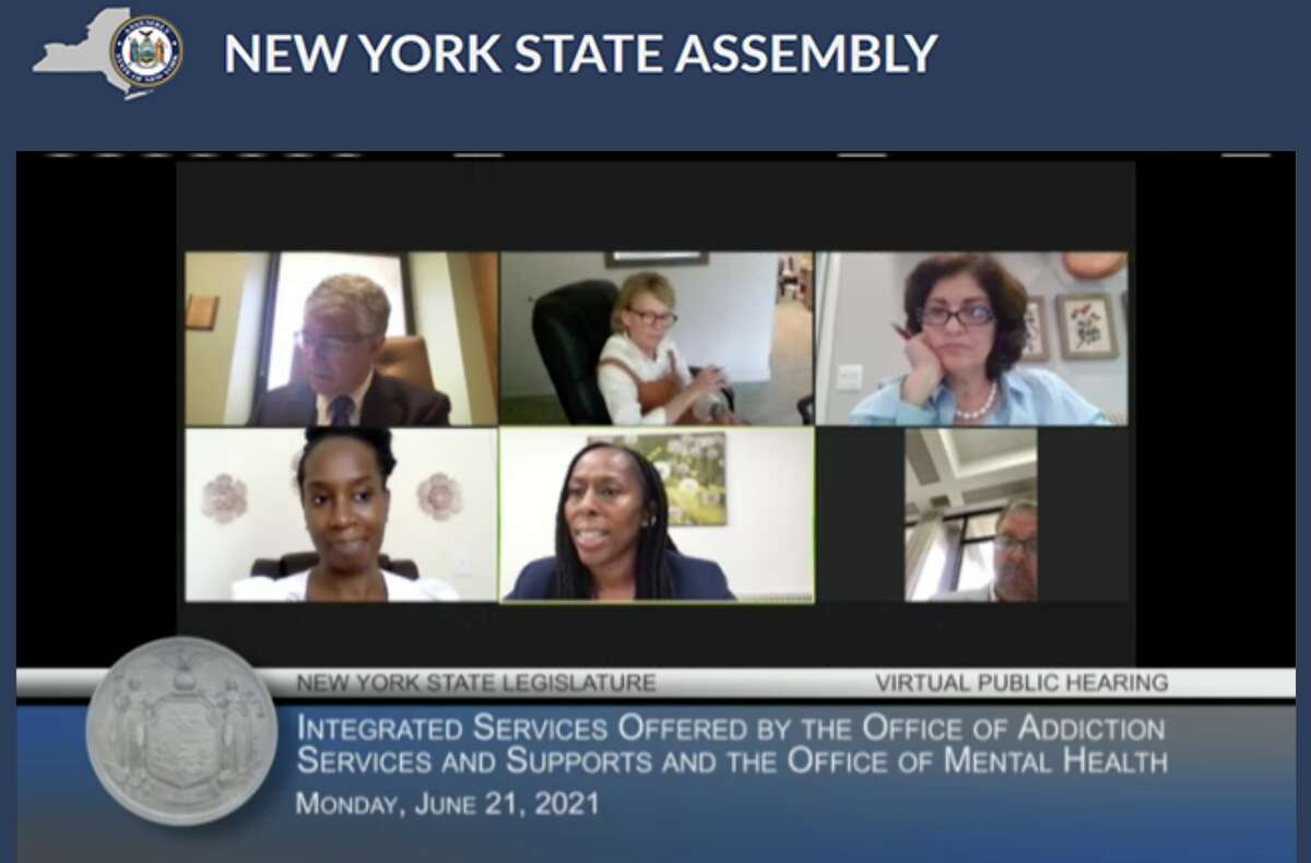 The New York stateAssembly holds a hearing on Monday, June 21, 2021 to examine a potential merger of the state's Office of Addiction Services and Supports with its Office of Mental Health.
