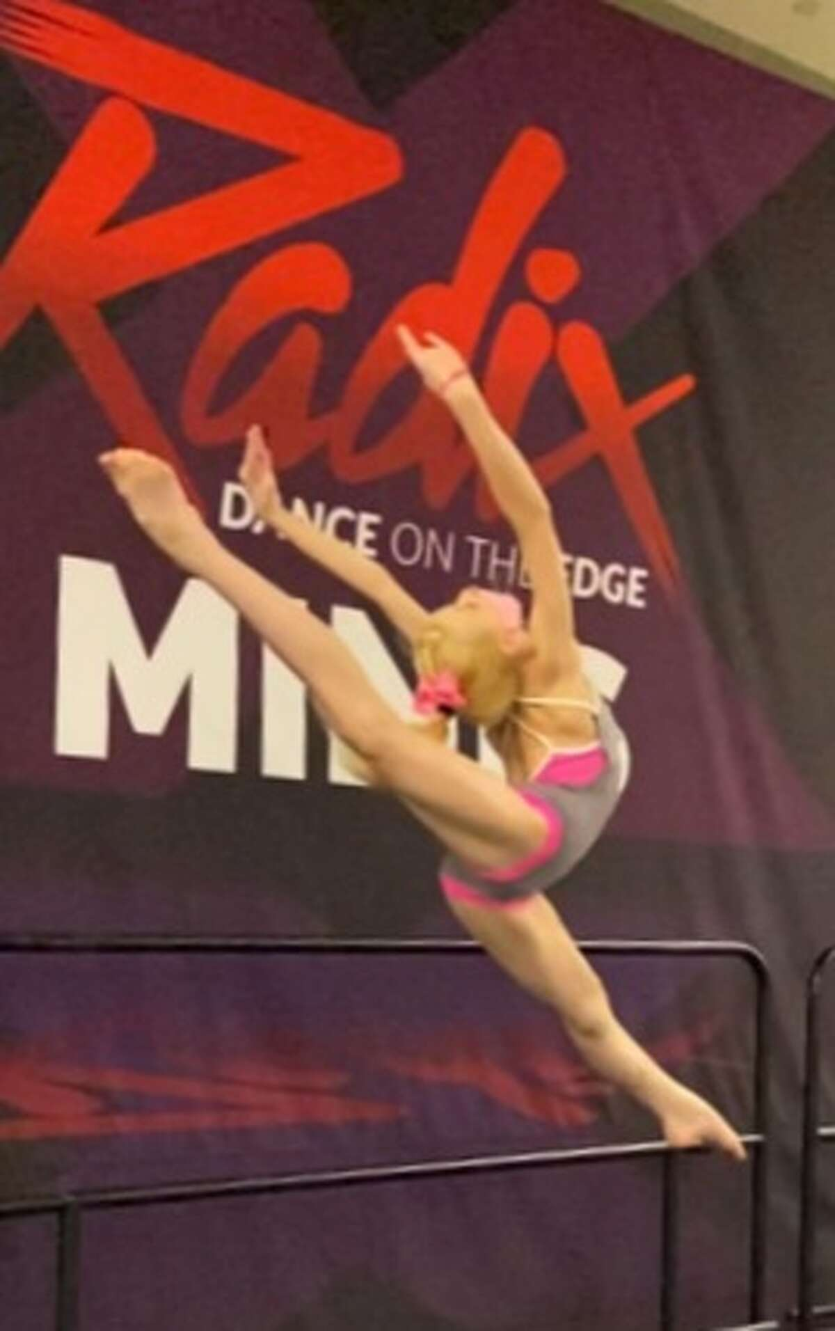 Daniella Lampen, of Manistee, competes in a regional competition in Detroit in early May. Lampen's performance qualified her for the Dance Awards in Las Vegas. (Courtesy photo)