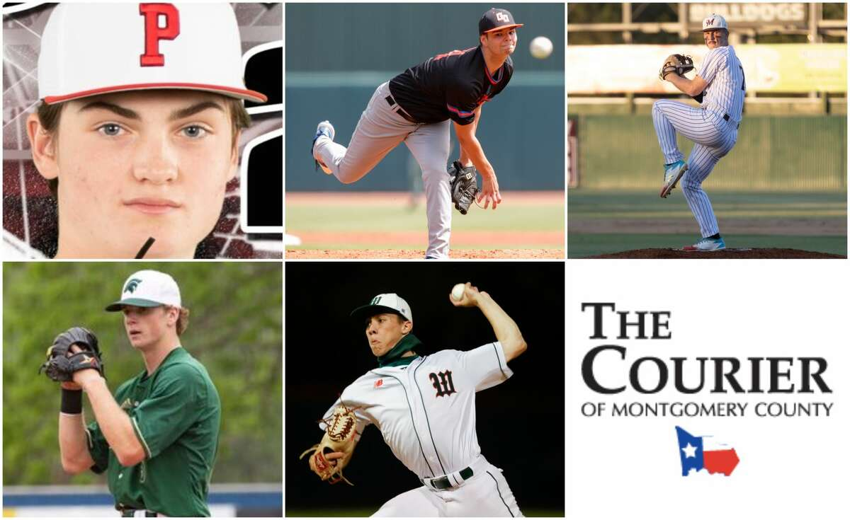 Zane Adams (Porter), Jason Burger (Grand Oaks), Cameron Nickens (Magnolia), Caedmon Parker (TWCA) and Brayden Sharp (The Woodlands) are nominees for The Courier's Pitcher of the Year.